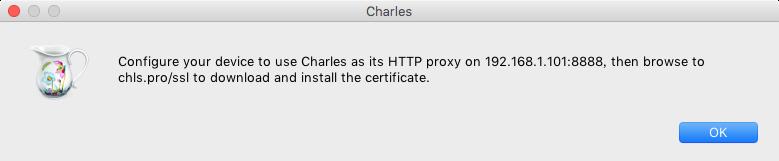 Charles提示手机端安装CA证书