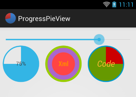 ProgressPieView