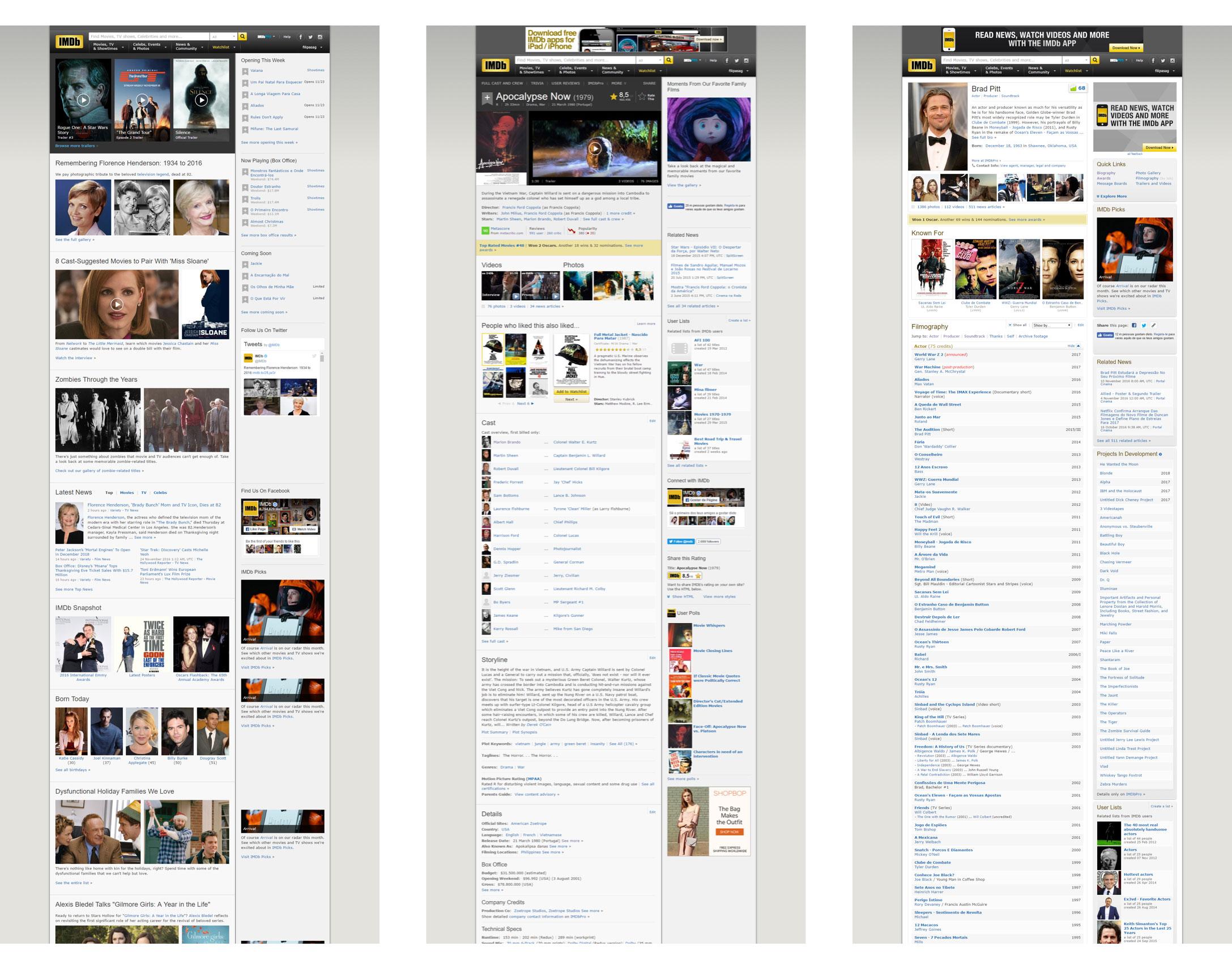 GitHub - FilipaGo/imdb-redesign-desktop-site-prototype: 🎥 IMDb ...