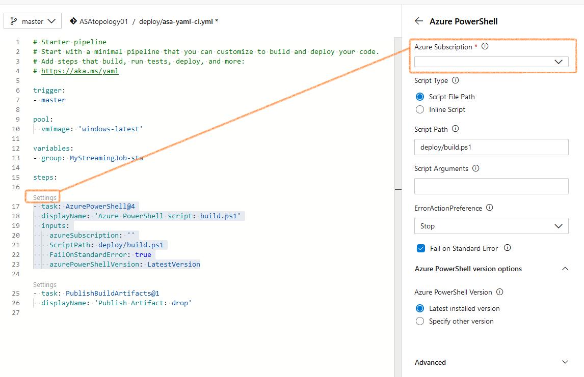 Screenshot of Azure DevOps: fixing the connection error
