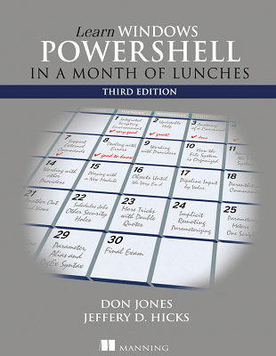 Cover of Learn Windows Powershell in a Month of Lunches