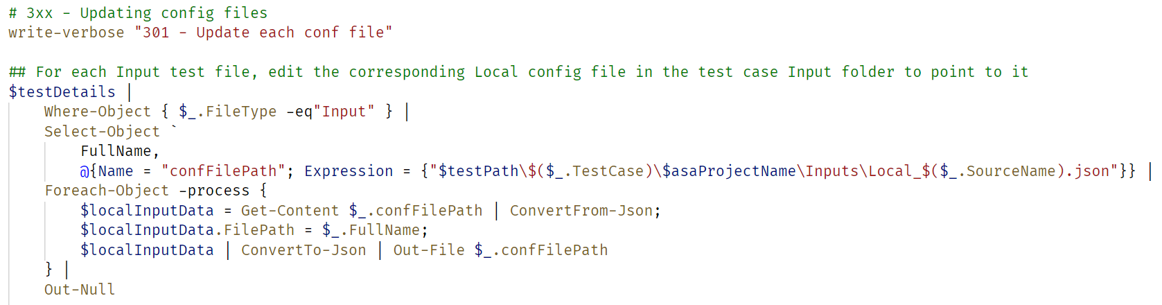 Sample of PowerShell code - look at me flexing my mad