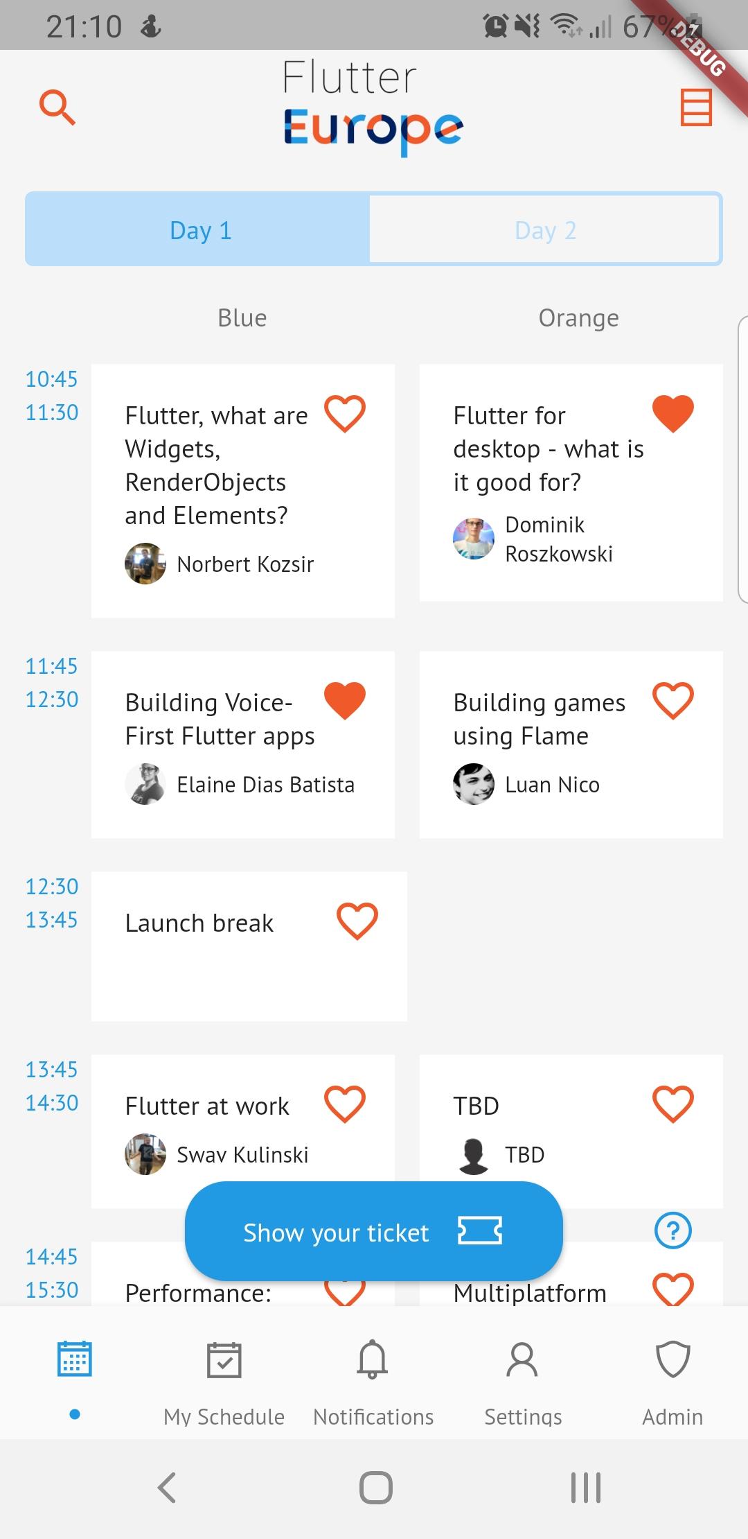 Agenda screenshot