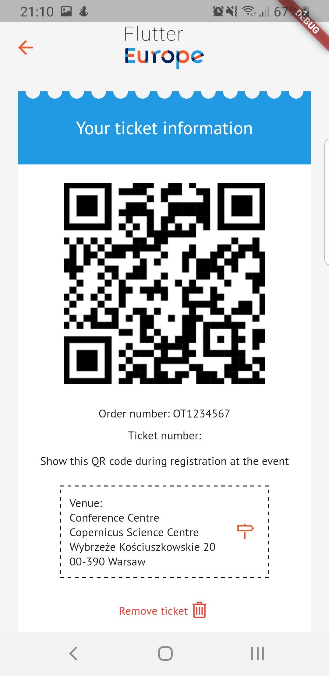 Ticket screenshot