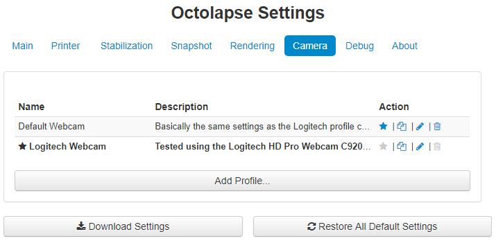 Camera Profiles · FormerLurker/Octolapse Wiki · GitHub