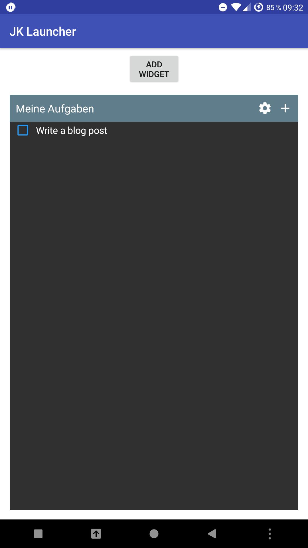 WidgetScreen