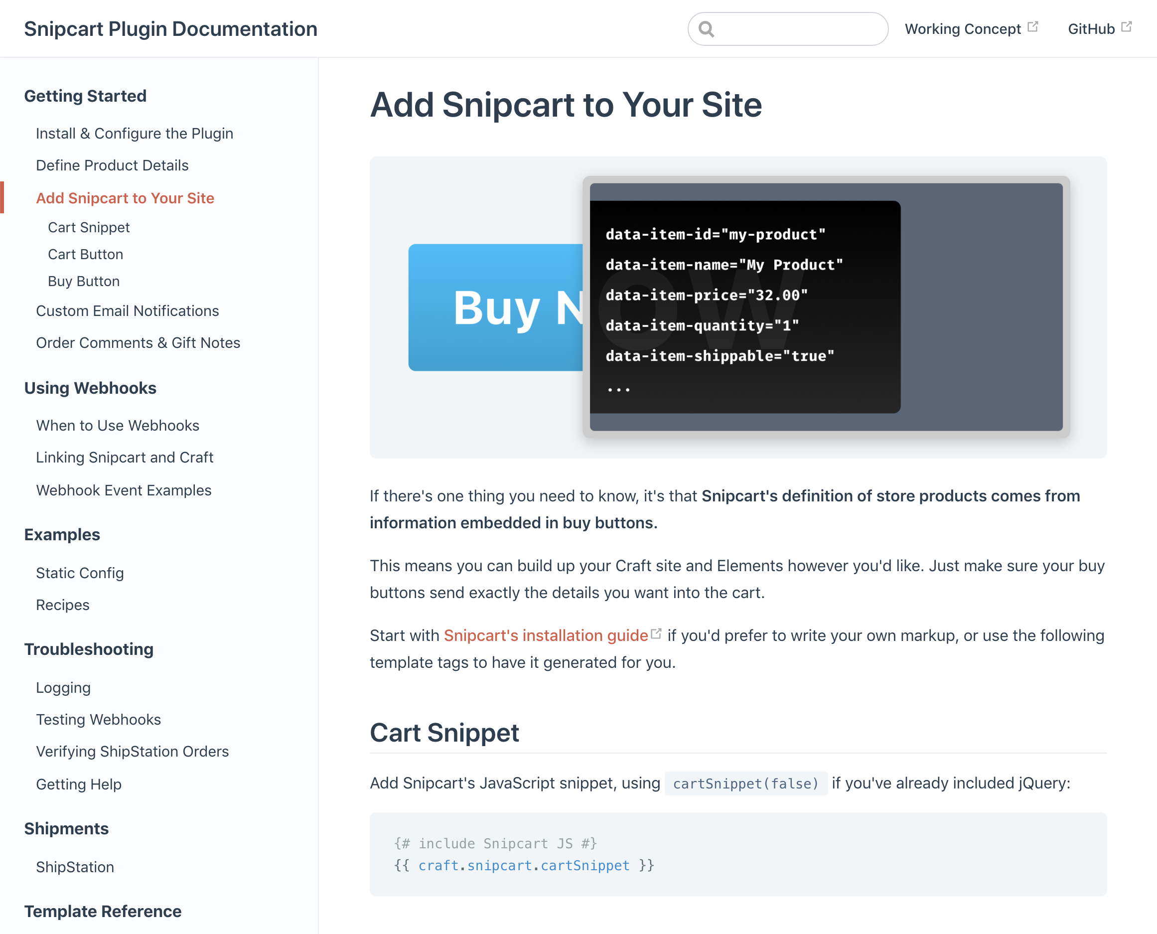 Snipcart Plugin Documentation