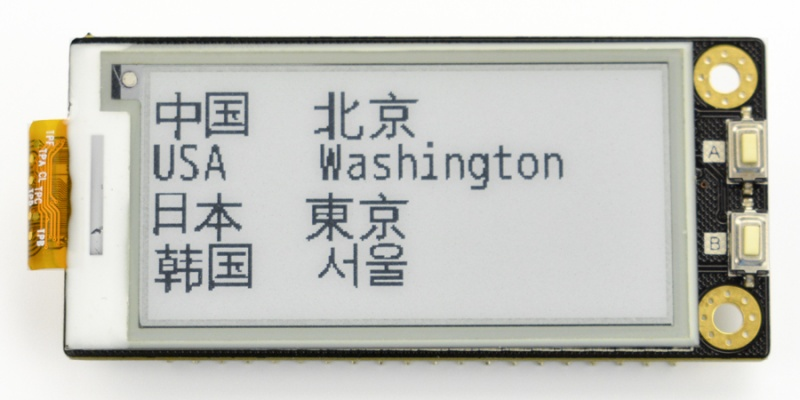 Multilingual display