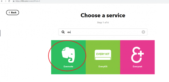 Select Evernote