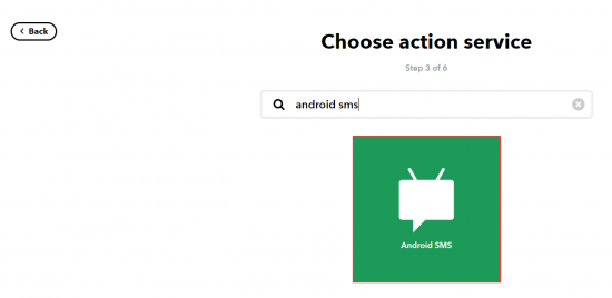 Select Android sms