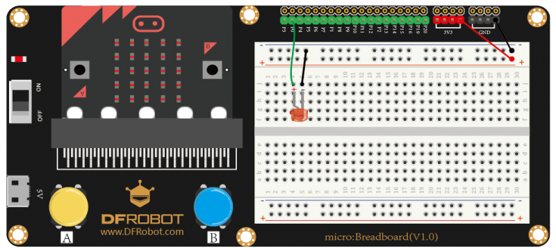 Control the LED by Button A/B