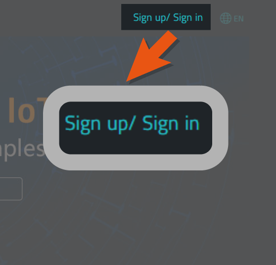 Click Sign Up/In