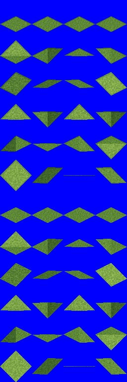 isometric tiles, with slopes