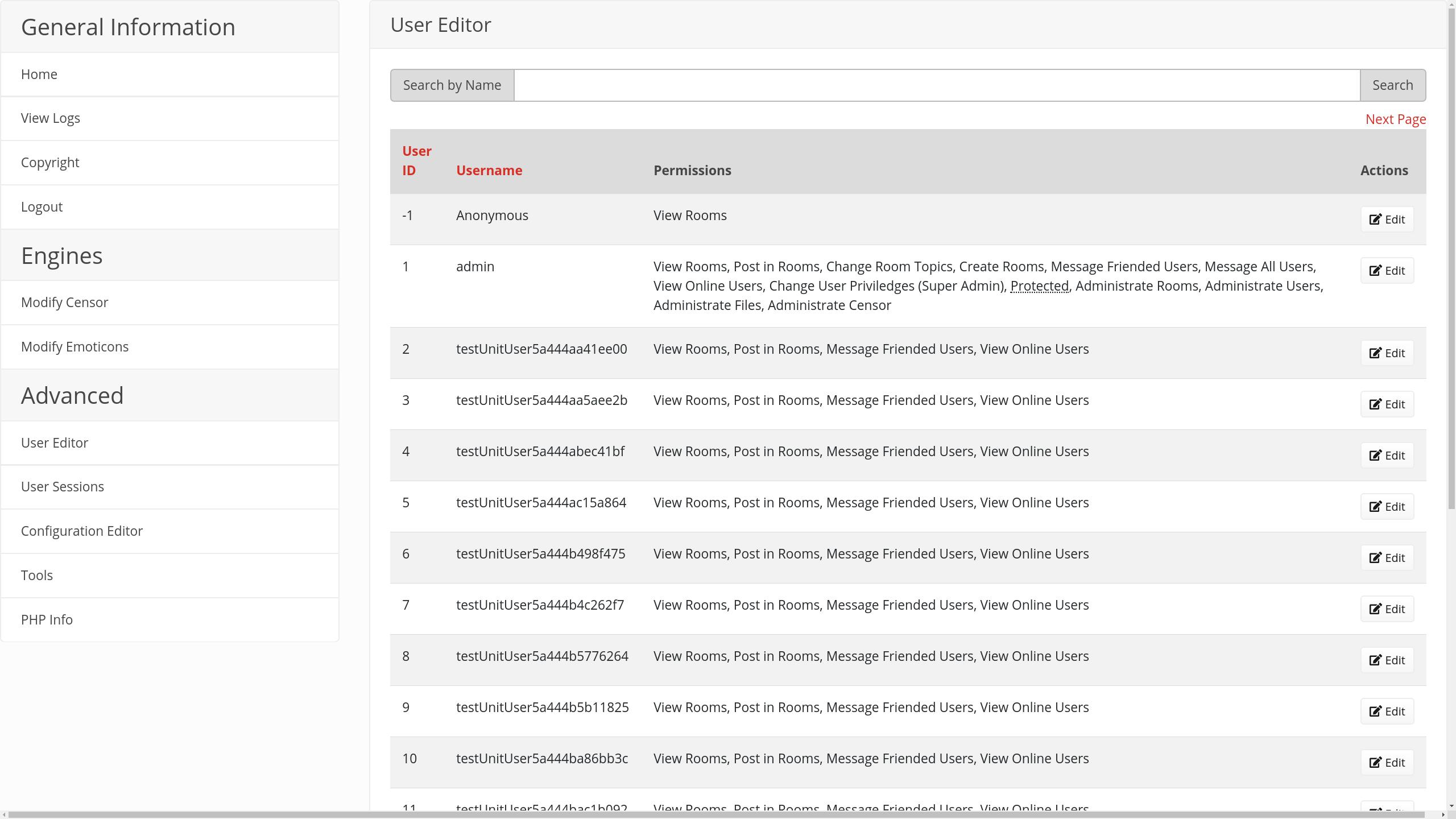 FreezeMessenger, Development Screenshot