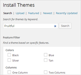 How to install theme