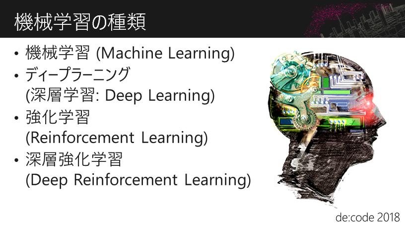 機械学習の種類
