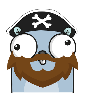 Yar the pirate gopher
