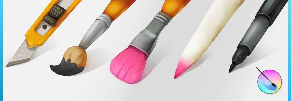 Banner showing 5 brush thumbnails