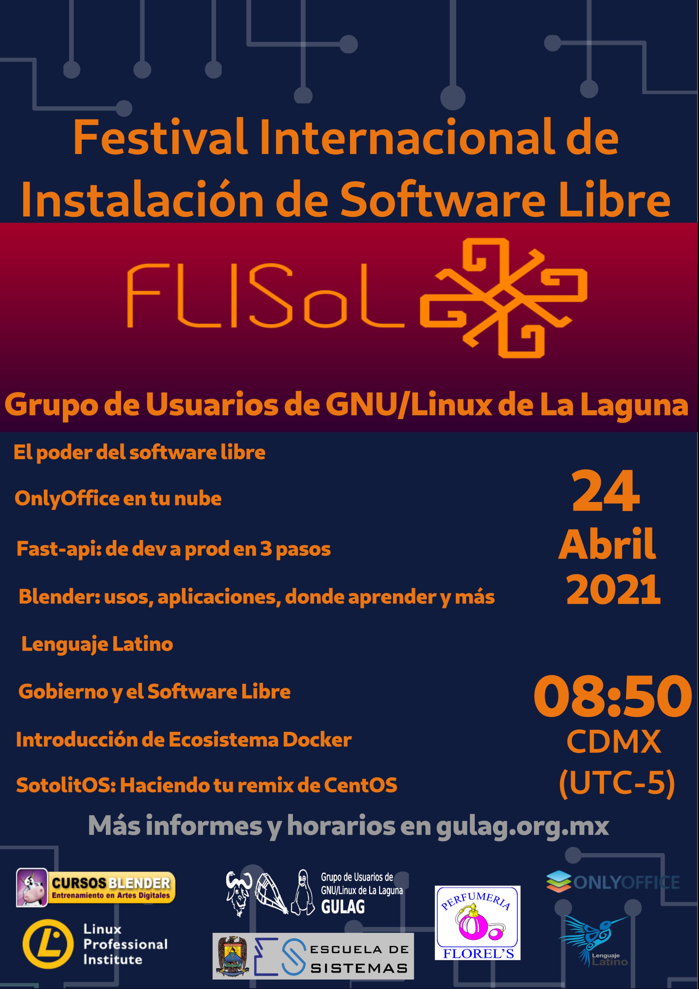 poster Flisol 2021