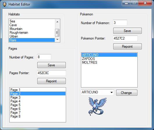Pokemon icon editor hacking tool