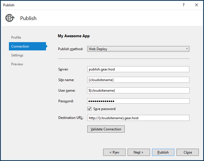 How To Publish Your App From Visual Studio | GearHost