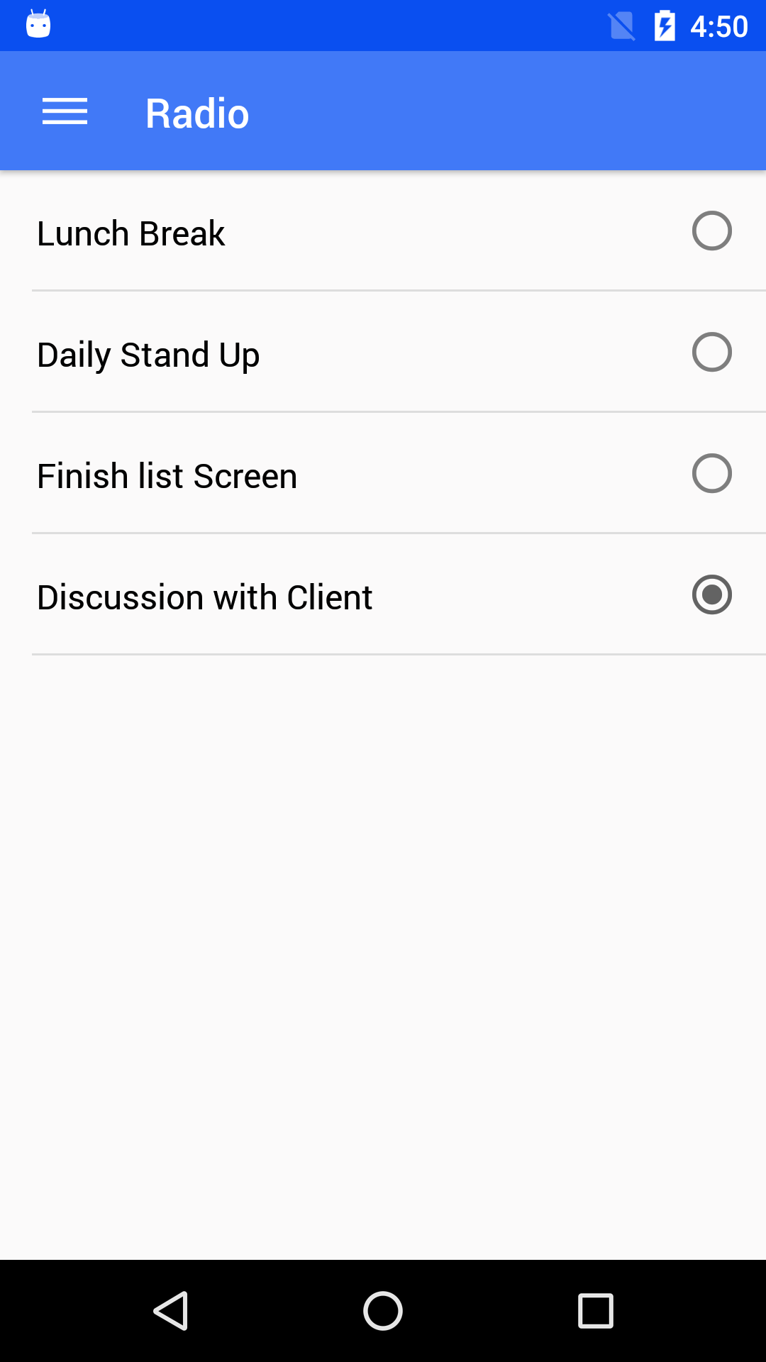 NativeBase radio component for android
