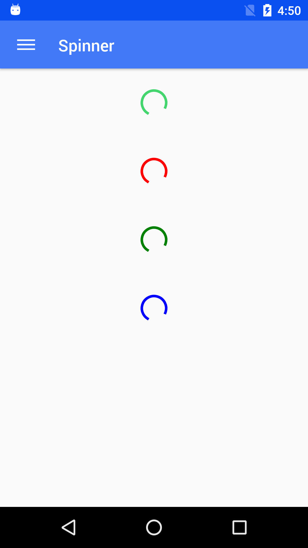 NativeBase spinner component for android
