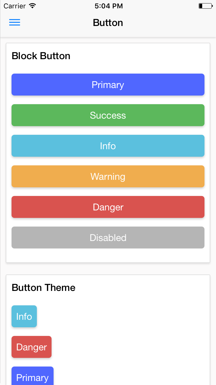 NativeBase Button component for iOS