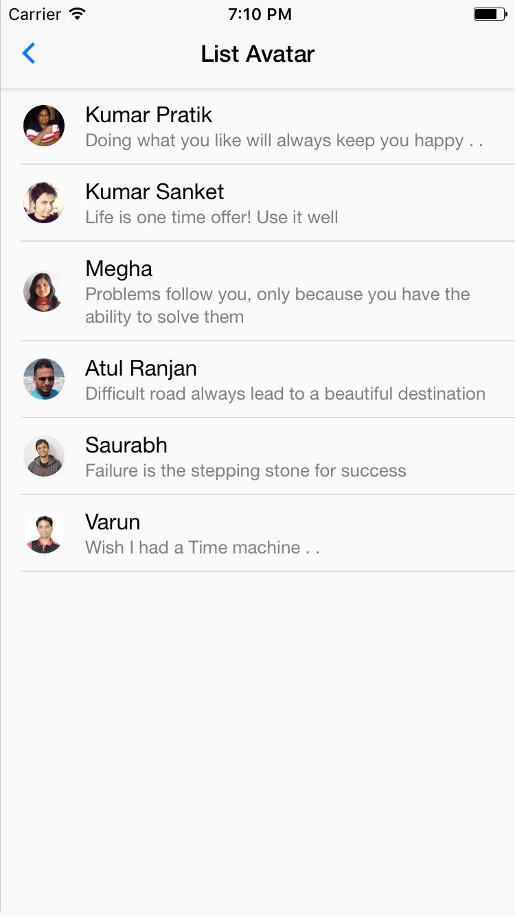 NativeBase List-Avatar component for iOS
