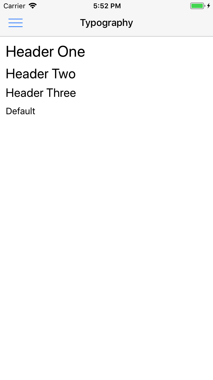Preview ios Typography