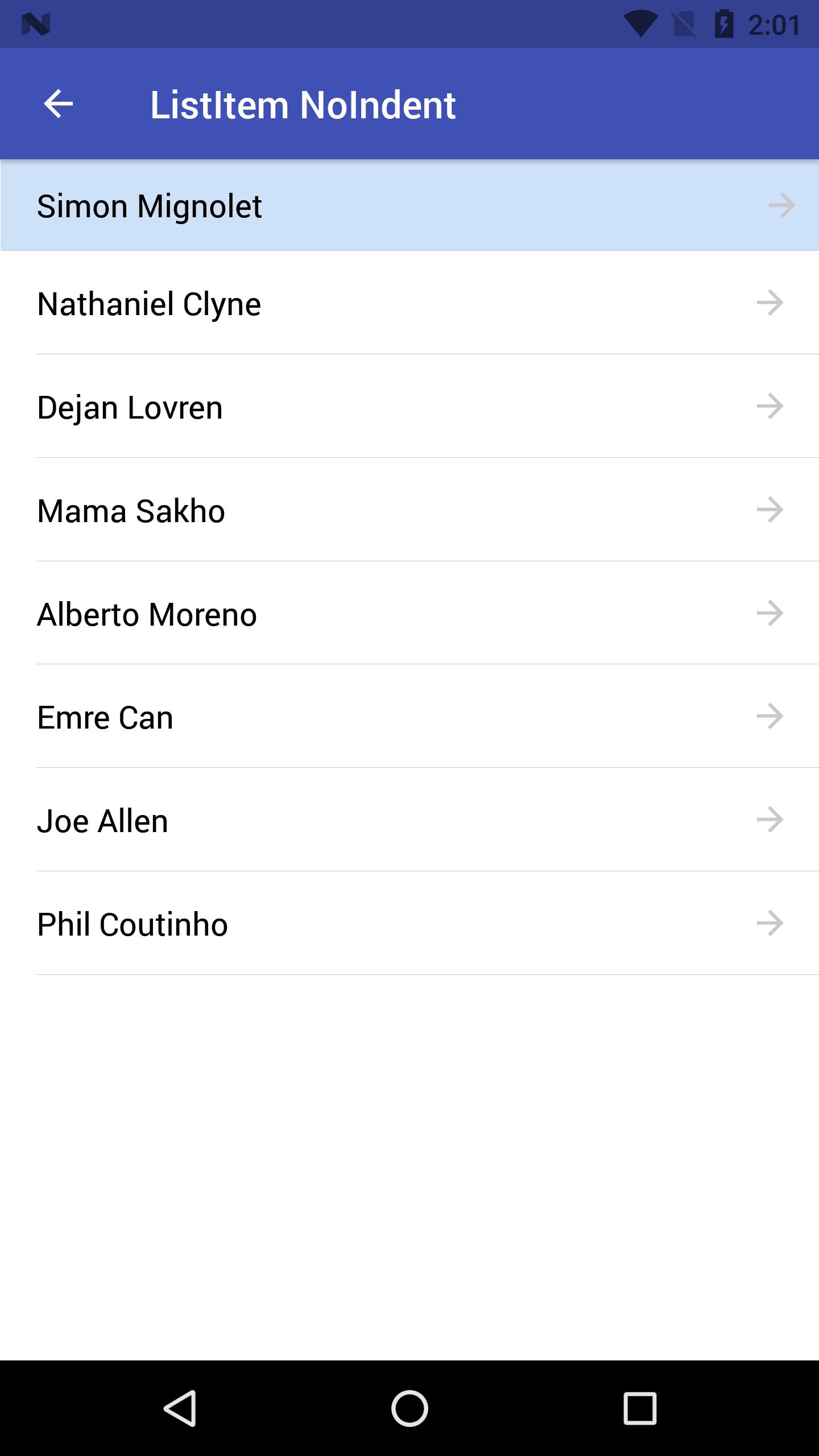 Preview android listitem-noIndent-headref