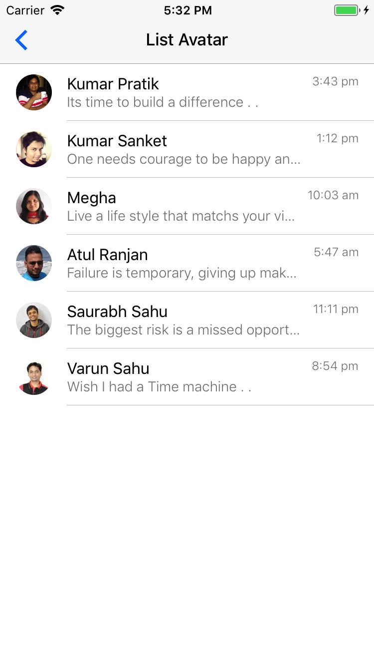 Preview ios list-avatar-headref