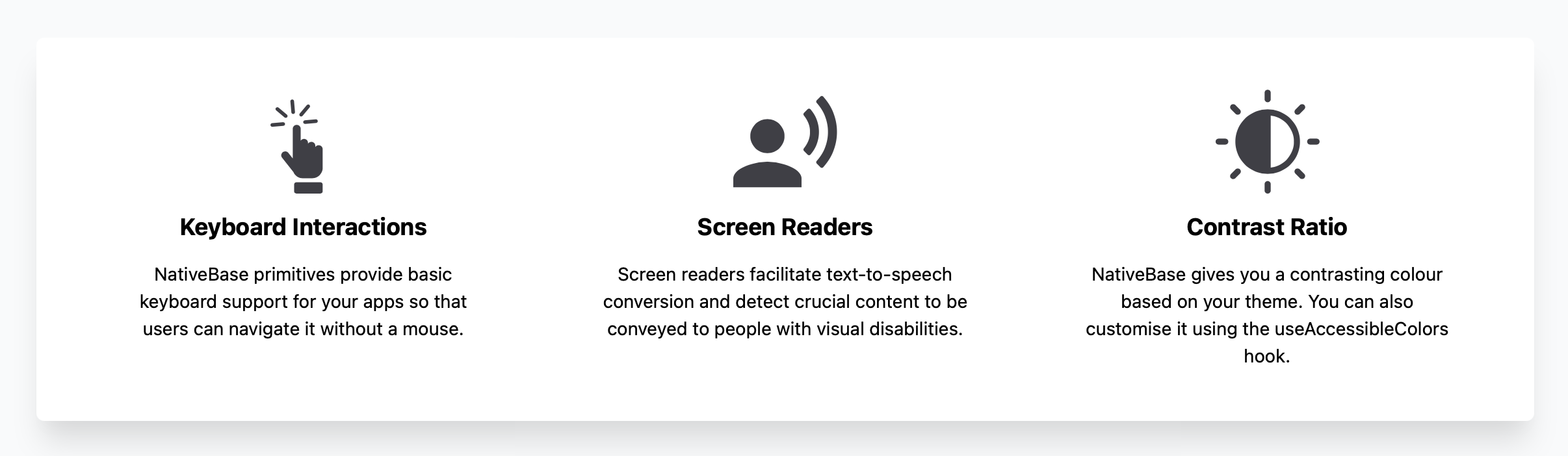 Out of the box accessibility