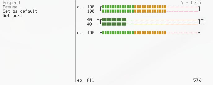 GitHub - GeorgeFilipkin/pulsemixer: CLI and curses mixer for