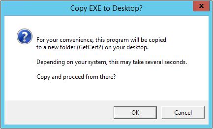 Copy EXE to Desktop?