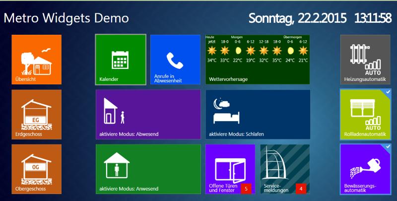 Demo interface