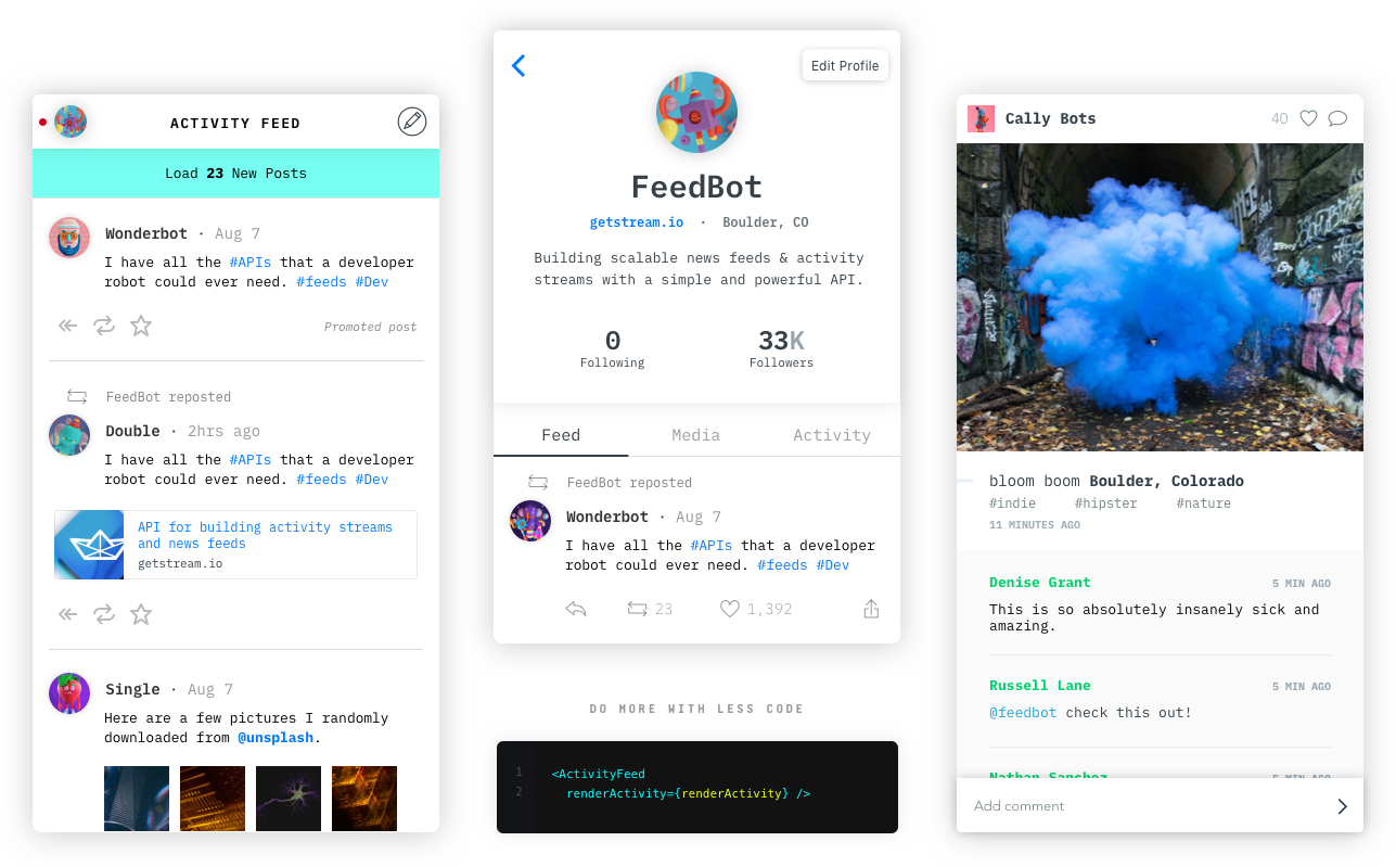 react native activity feed
