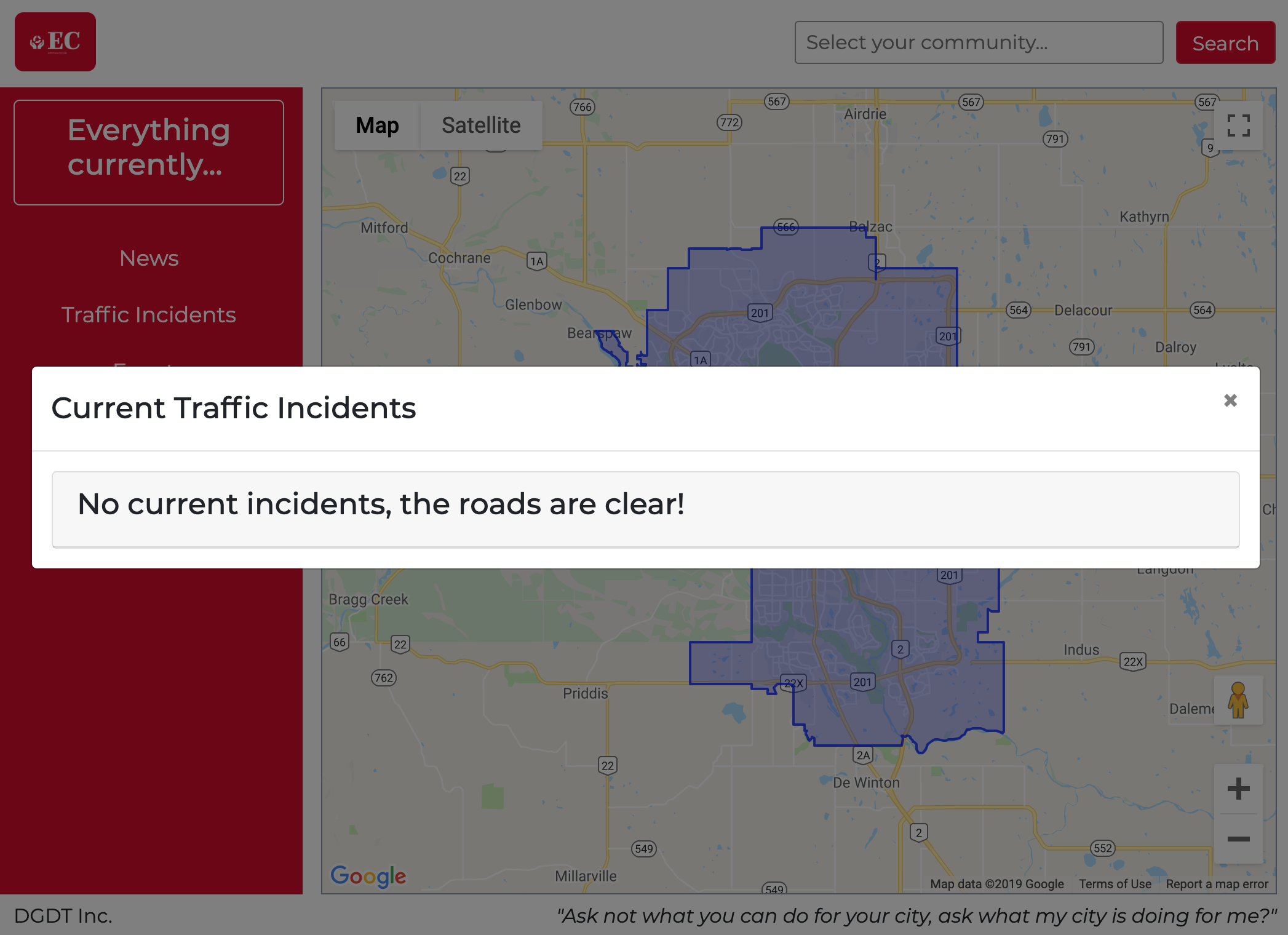 """""""Traffic Incidents in Calgary Component"""""""