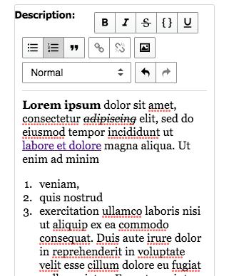 Reach Text Editor plugin