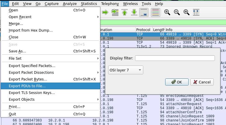Export OSI Layer 7