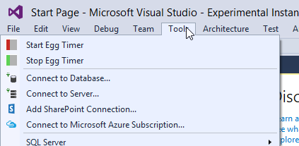 Visual Studio Egg Timer Commands