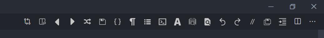 shortcut menu bar
