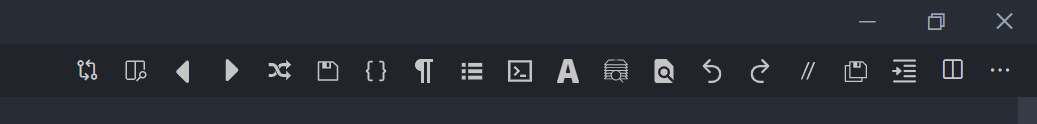 shortcut menu bar