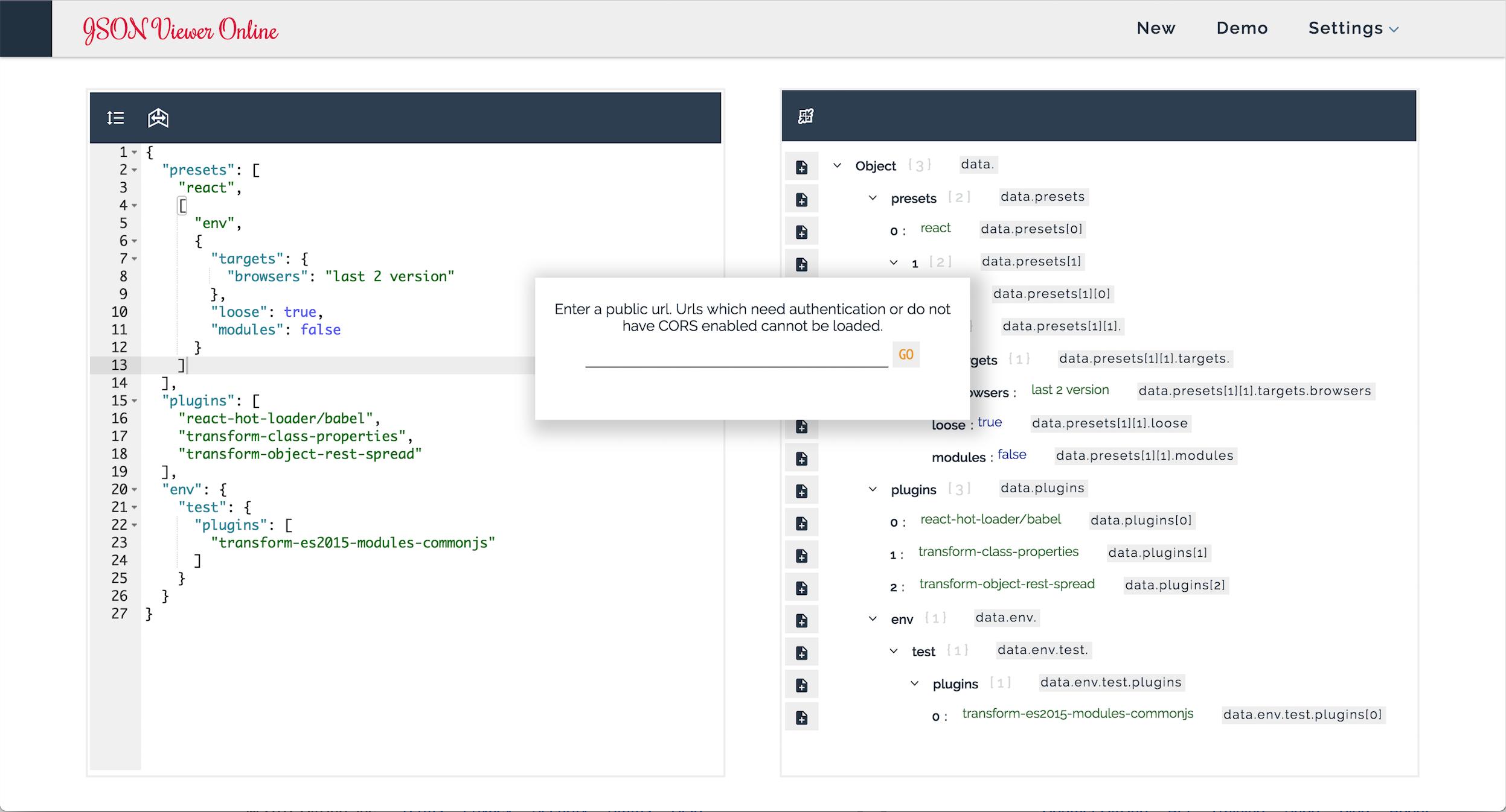 GitHub - Gregjarvez/React-redux-json-viewer: Online JSON