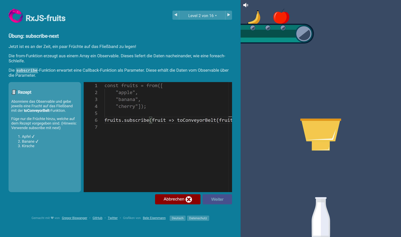 rxjs-fruits.com screenshot