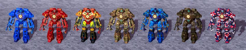 Image of built-in skins, set 1