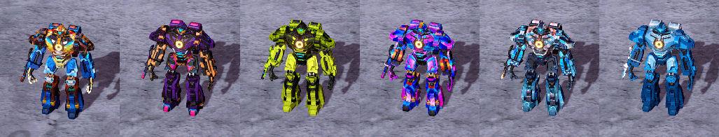 Image of built-in skins, set 2