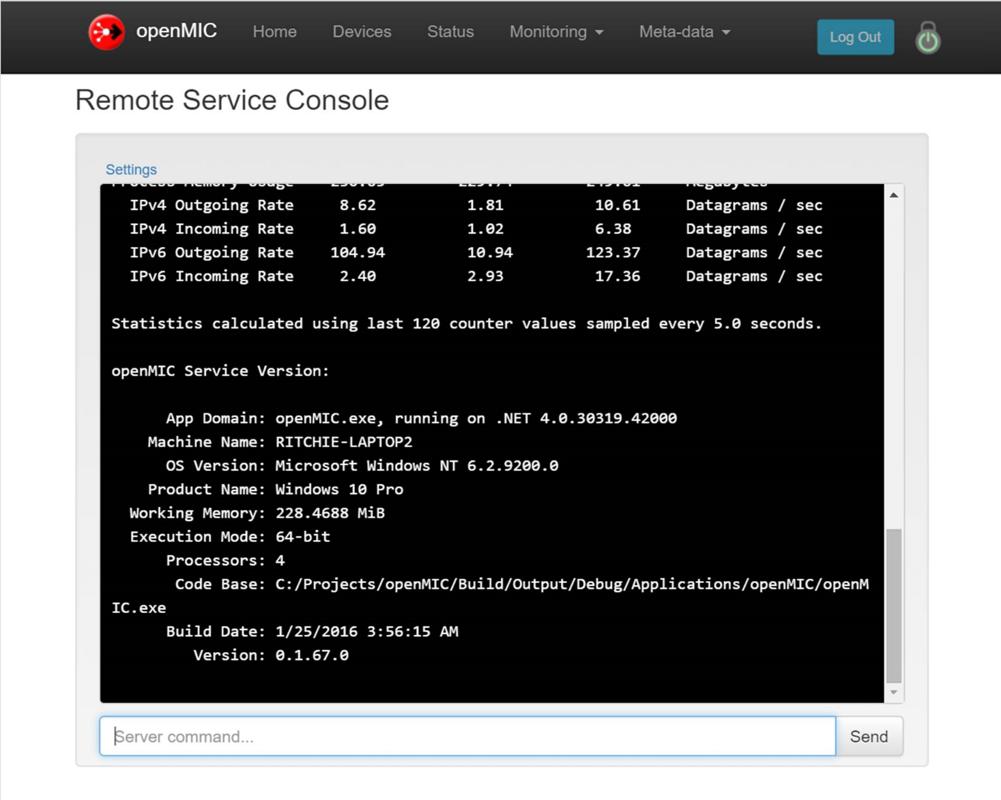 Monitor the Service via Web