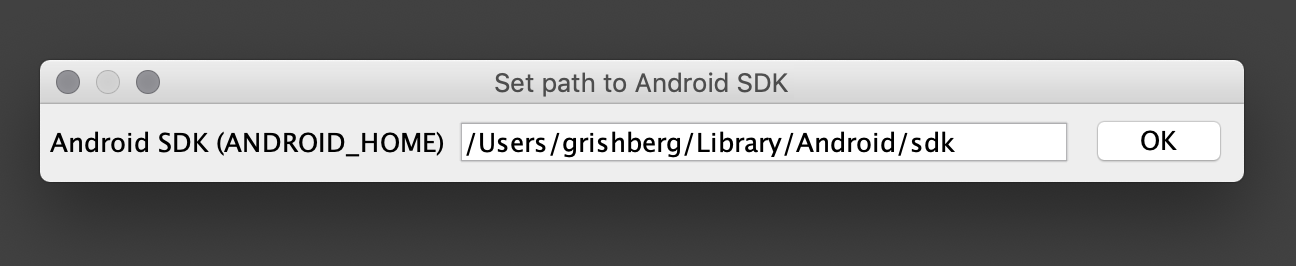 Setup Android SDK