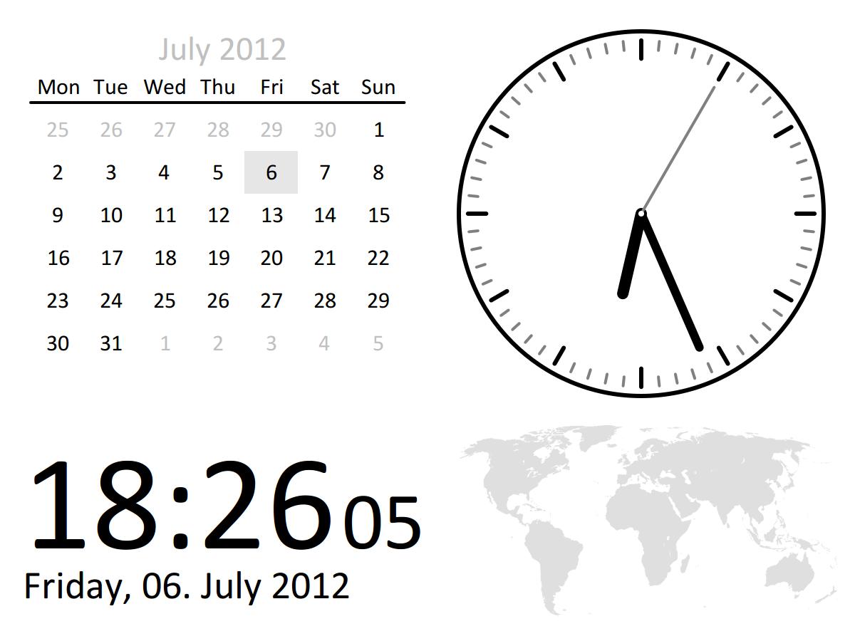ClockGr Screenshot